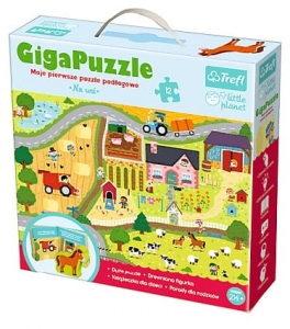 Giga Puzzle - Na wsi - Little Planet Trefl 90564