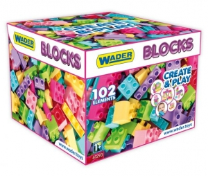 Klocki Blocks Create & Play Pink 102 el. Wader 41293 12m+