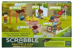 Gra planszowa Scrabble Practice and Play GGB32 Mattel 5+