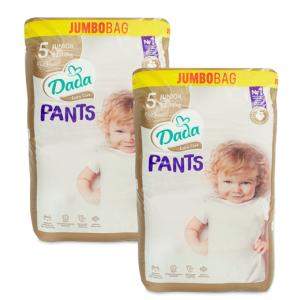Dada Extra Care pieluchomajtki PANTS JUMBOBAG 5 JUNIOR 60szt 2x
