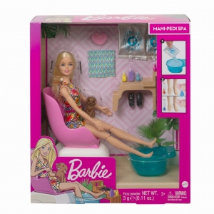 Barbie Mani-pedi Spa Zestaw do zabawy GHN07 Mattel 3+