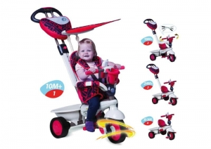 Pojazd Rowerek Smart Trike 4w1 - Seria Dream Touch Steering - czerwony