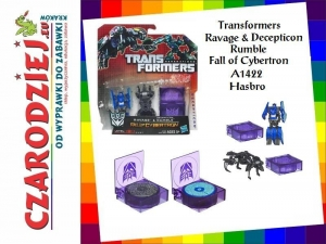 Transformers Ravage & Decepticon Rumble Fall of Cybertron A1422 Hasbro