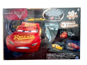 Puzzle drewniane 3w1 Spin Master Cars 3