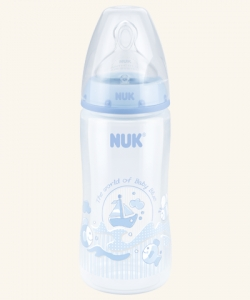 Butelka 300ml Nuk First choice plus 0-6m 741719 Baby Blue