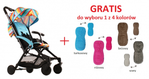 Wózek spacerowy Kees 2017 K2Go kolor multi blue + Wkładka spacerowa GRATIS