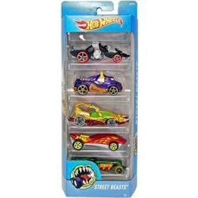 Autka Hot Wheels pięciopak Mattel DVF93 Street beasts