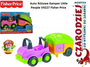 Auto Różowe Kamper Little People V9227 Fisher Price