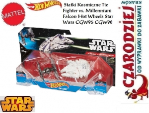 Statki Kosmiczne Tie Fighter vs. Millennium Falcon Hot Wheels Star Wars CGW95 CGW90
