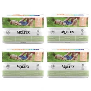 Moltex Pure&Nature pieluchy  2 Mini 3-6 kg 38 szt. 4x