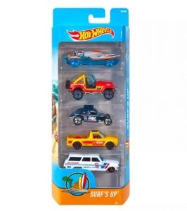 Autka Hot Wheels pięciopak Mattel DVG00 Surf's up