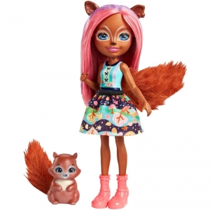 Lalka + zwierzątko Sancha Squirrel i Stumper Enchantimals Mattel FMT61 FNH22 4+