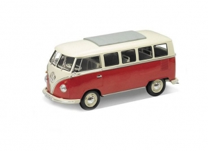 Model auta w skali 1:24 Dromader Welly  1963 Volkswagen T1 Bus