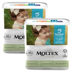 Moltex Pure&Nature pieluchy  5 Junior 11-25 kg 25 szt.  2x