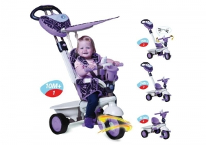 Pojazd Rowerek Smart Trike 4w1 - Seria Dream Touch Steering - fioletowy
