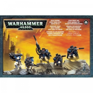 Figurka Warhammer 40000  SPACE MARINE SCOUTS WITH SNIPER RIFLES 48-29