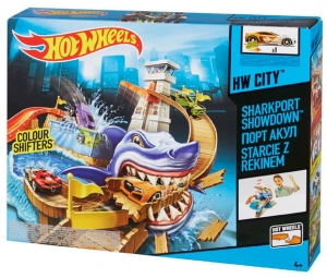 Hot Wheels Tor Rekin w porcie BGK04 Hot Wheels 4+ Zmienia kolor
