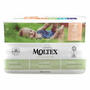 Moltex Pure&Nature pieluchy  2 Mini 3-6 kg 38 szt.