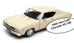 Model auta w skali 1:24 Dromader Welly 1968 Chevrolet Chevelle SS 396