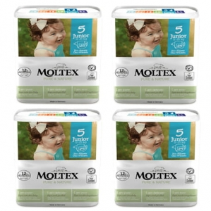 Moltex Pure&Nature pieluchy  5 Junior 11-25 kg 25 szt.  4x