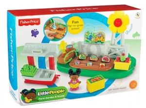 Zestaw Ogródek ze Straganem Little People Y8197 Y8195 Fisher Price