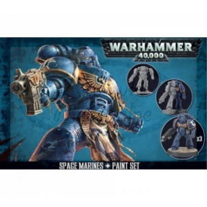 Figurki Warhammer 40000 Space Marines + Paint Set 60-11