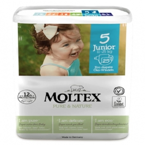Moltex Pure&Nature pieluchy  5 Junior 11-25 kg 25 szt.