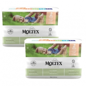 Moltex Pure&Nature pieluchy  2 Mini 3-6 kg 38 szt. 2x